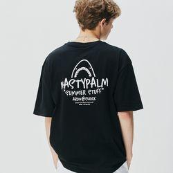 아론 쇼크 로고 티셔츠 블랙