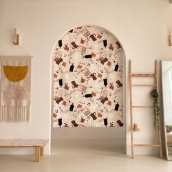 커피 카페 가리개커튼 가림막커튼 4색상 맞춤 패브릭