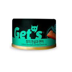 겟츠 gets 캔 85g 24개입 - 참치흰살 연어signature고양이간식