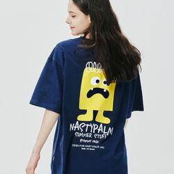 토미 페이지 로고 티셔츠 네이비