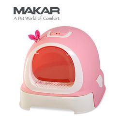 마칼 버블캣 후드화장실 - 핑크고양이화장실