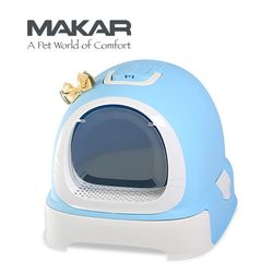 마칼 버블캣 후드화장실 - 블루고양이화장실
