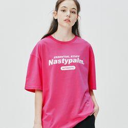 네스티 어센틱 로고 티셔츠 핑크