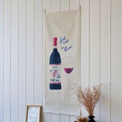 와인 세로형 패브릭 포스터 . 바란스커튼