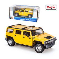 마이스토 1:24 2003 험머 H2 SUV 옐로우 다이캐스트 모형차