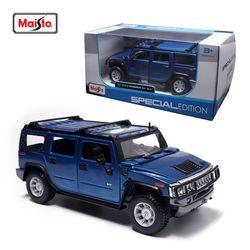 마이스토 1:24 2003 험머 H2 SUV 블루 다이캐스트 모형차
