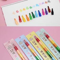 몰랑이 12색 블록 색연필-미니색연필