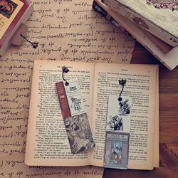 빈티진북마크 이상한 나라의 앨리스 명작 디자인 수제 책갈피