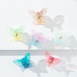워터컬러 나비 집게핀 (21H142)