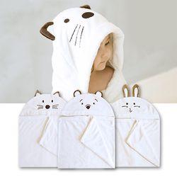 신생아 아기 목욕 후드타올 단품 3종세트