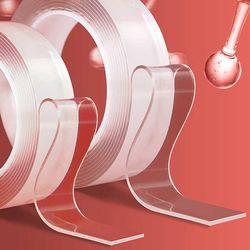 강력흡착 투명 양면테이프 세척사용 가능 3cmx1Mx2mm