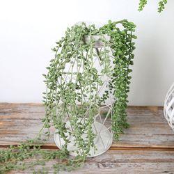 고속터미널꽃시장 녹영 콩란 조화 85cm 행잉플랜트