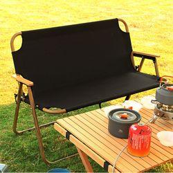 더블 벤치 폴딩체어 2인용 접이식 야외 캠핑 의자