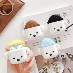 bob 레옹 퍼피 에어팟/프로 3D 실리콘 케이스+키링