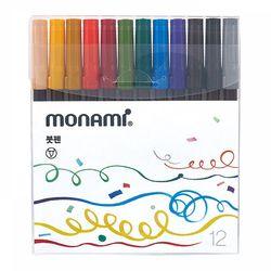 모나미 붓펜 12색세트
