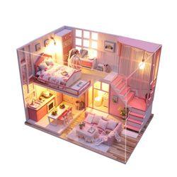 [adico]DIY 미니어처 하우스 - 핑크로즈 로프트