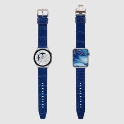 [MR TIME Crocodile Leather] 악어가죽 시계줄 핀버클 블루