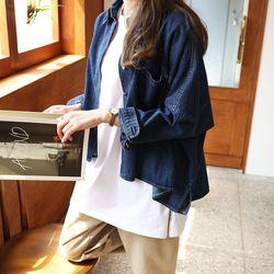 코코 가오리 언발 청 자켓