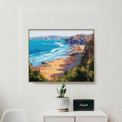해안가 풍경 DIY명화그리기 유화그리기세트 명화색칠하기