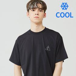 [기능성 쿨반팔]25P COOL BASIC LOGO T-SHIRT [black]