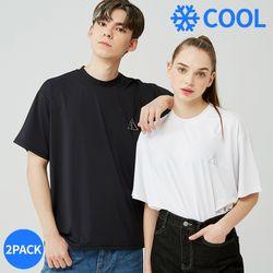 [2PACK] 25P COOL BASIC LOGO T-SHIRT [blackwhite]