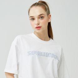 25P OUTLINE LOGO T-SHIRT [white]