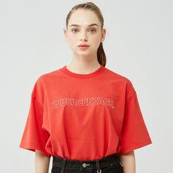 25P OUTLINE LOGO T-SHIRT [red]