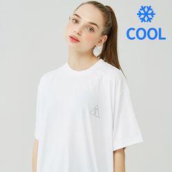 [기능성 쿨반팔]25P COOL BASIC LOGO T-SHIRT [white]