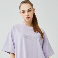 25P TRIANGLE GLITTER LOGO T-SHIRT [light purple]