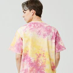 25P TIE DYE T-SHIRT [pink yellow]