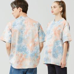 25P TIE DYE T-SHIRT [blue orange]