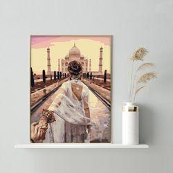 여친 손잡고 이슬람 사원 DIY명화그리기 유화그리기세트