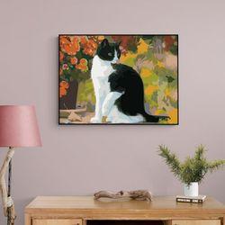 도도한 고양이 한마리 DIY명화그리기 유화그리기세트
