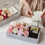 클리어 핸들 비누꽃 카네이션&로즈 반전 용돈박스