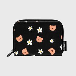 Dot flower merry-black(레더 카드지갑)