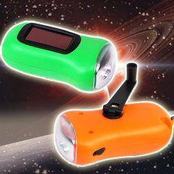 태양열 자가발전 후레쉬 슈퍼 LED 무건전지 캠핑 랜턴