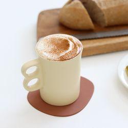 홈카페 귀여운 뭉툭 도자기 머그컵
