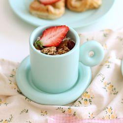 홈카페 귀여운 도넛 동글 머그컵 플레이트