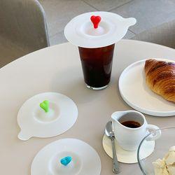 허쉬펠러스 하트 실리콘 컵뚜껑 컵커버 덮개