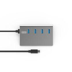 넥스트 C타입 to 4포트 USB3.0 무전원 허브 NEXT-328TC