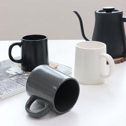 카페 무광 스타 머그잔 커피잔 (3 Color)