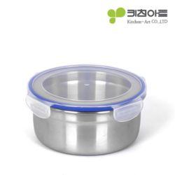 키친아트 피앙세 스텐리스반찬통 원형 4호(1100ml)