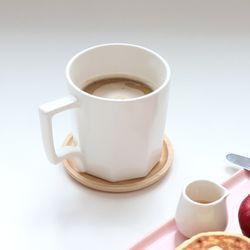 카페 무광 세미 매트 팔각 머그컵 커피잔 (5 Color)