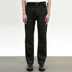 STRAIGHT LONG DENIM PANTS [INDIGO]