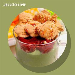[젤시스] 녹차붕어빵 점토섞기 녹차라떼 수제슬라임