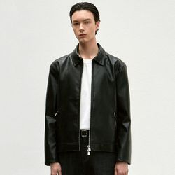 SINGLE LEATHER JACKET [BLACK]