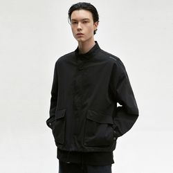 STAND COLLAR BLOUSON [BLACK]