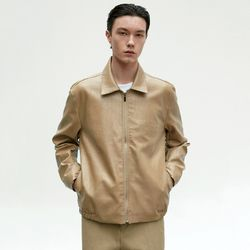 CLASSIC LEATHER BLOUSON_BEIGE