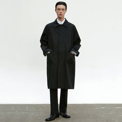COTTON MAC COAT [BLACK]