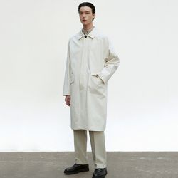 COTTON MAC COAT [CREAM]